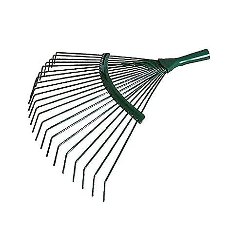 42cm Steel Fan Rake Head Replacement for Garden Patio Leaves Leaf Lawn Moss 18 Tins