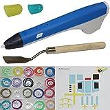 3D Pen Stereoskopisch Drucker Stift Graffiti Stift Handwerksstift Kinder Blau / Weiss
