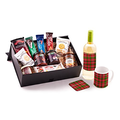 Sauvignon Blanc Scottish Food Hamper. Birthday, Anniversary, Engagement, Easter, Mother's day, Father's day, Valentine's day, Wedding or Christmas gift idea