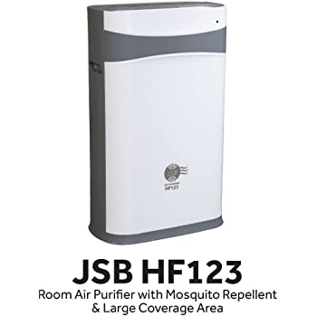 JSB HF123 Air Purifier for Home Big Room to Remove Dust with HEPA Filter, Ionizer and UV Sterilization (HF123 with Mosquito Repellent (White))