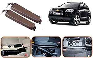 Auto Pearl - Premium Quality Car 100% Gap Coverage In Front of, Surrounding & Behind Seat Gap Filler Cola For - Chevrolet Captiva