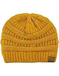 3ac59e568bc Amazon.fr   bonnet jaune moutarde - Bonnets   Casquettes