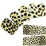 JUSTFOX - Nail tatuaje patrón etiqueta engomada del arte del león del tigre del leopardo etiquetas engomadas del clavo