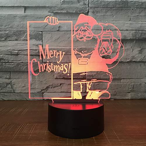 Optische Illusionslampe 3d Led Night Light 7 Color Santa Claus Schreibtisch Dekorationslampen Für Baby-bedauom-kinder Geburtstagsgeschenk
