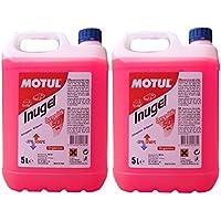 MOTUL Anticongelante Refrigerante Motor Inugel Long Life 50% G12,10 litros (2x5 lts), Color Rosa