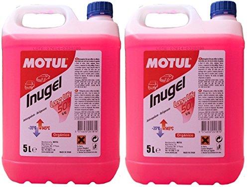 MOTUL Antifreeze Coolant Engine Inugel Long Life 50% G12,10 liters (2x5 lts), Pink