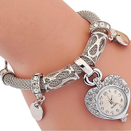 Gosear Frauen Lady Mädchen Mode Liebe Form Lässige Partei Kette Armband Handgelenk Uhr - Mädchen-partei