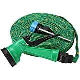 7Clouds Water Spray Gun 10 Meter High Pressure Hose Pipe – Multipurpose - House, Garden & Car Wash Hose Pipe (Green)