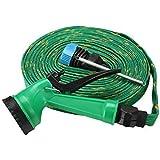 7Clouds Water Spray Gun 10 Meter High Pressure Hose Pipe – Multipurpose - House, Garden & Car Wash Hose Pipe (Green)