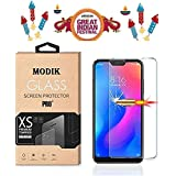 MODIK Gorilla Edge To Edge  Full Gum   3D Full Screen Cover With High Quality Anti Fingerprint Tempered Glass Guard For Redmi 6 Pro - Transparent [2.5D 0.3mm Curve Edges]Slightly Smaller Due To Curve Edges]