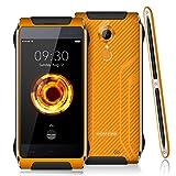 HOMTOM HT20 Pro - aggiornato IP68 impermeabile a prova di polvere smartphone 4.7 pollici Android 6.0 4G octa core 3GB di RAM 32GB ROM impronta digitale Camera 16MP - arancia
