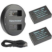 Newmowa LP-E17 Batería de repuesto (2-Pack) y Kit de Cargador Doble para Micro USB portátil para Canon LP-E17 y Canon EOS M3 750D 760D Rebel T6i T6s 8000D Kiss X8i