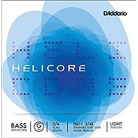 D'Addario H611-3/4L Helicore Kontrabass Einzelsaite 'G' Nickel umsponnen 3/4 Light