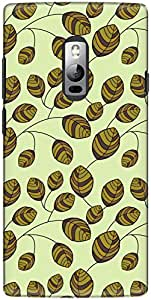 The Racoon Grip printed designer hard back mobile phone case cover for OnePlus 2. (flower bud)