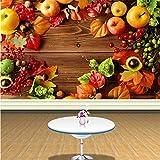 Svsnm Papel Tapiz fotográfico Personalizado Estilo Rural Fruta Fresca Fondo Supermercado Tienda de Frutas Decoración de la Sala de Estar Mural de Papel Tapiz