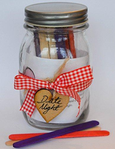 Date Nuit Pot - Romance et Fun pour couples cadeau ruban rouge avec bâtonnets Rouge/Violet/uni