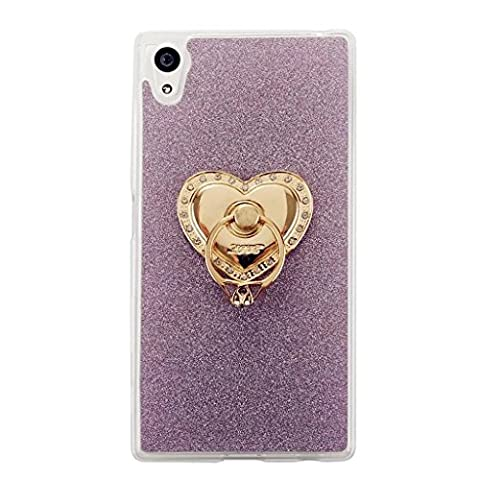 MUTOUREN Sony Xperia XA TPU Silicone Case Cover Transparent Ultra Thin Gel High Quality TPU Shock Absorptionbling glitter case