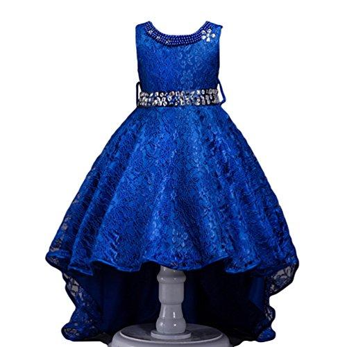 WanYang Kinder High End Kleid Spitze Mädchen Kleid Kostüme Tanzkleider Blumen Mädchen Kleider Tüllkleider Tutu Prinzessin (Tanzabend Kostüme Kinder)