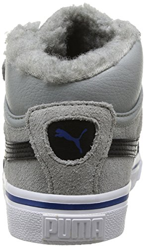 Puma Mid Vulc Fur V Kids, Baskets mode mixte bébé Gris (Limestonegray/Black/Limoges)