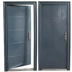 haust r t r sicherheitst r wohnungst r haust ren 96x205cm anthrazit din rechts. Black Bedroom Furniture Sets. Home Design Ideas