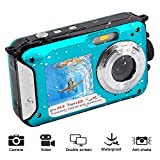 Underwater Camera Waterproof Camera 1080P FHD 24 MP Camera Dual Screen Waterproof Camera