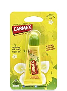 Carmex Tea Lip Balm Tube with SPF 15, Jasmine Green 10 g