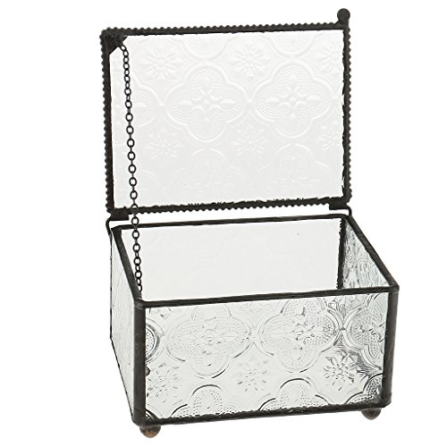 MagiDeal Modern Klar Glas Würfel Box Glas Pflanze Terrarium/dekorativer Votivkerze, Teelichthalter...