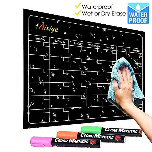 Kühlschrank Magnetic Dry Löschen Kalender Tafel Design Wasserdicht Flexible Magnet Board Schwarz Fluoreszierende Magnetische Organizer Board Kühlschrank Kalender Magnet Kreide Marker Board Planner Monatliche
