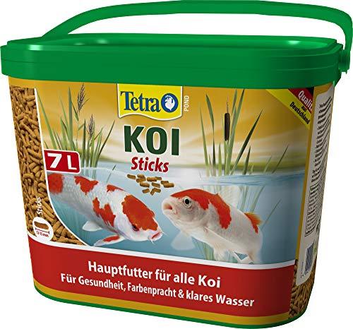 Tetra Pond KOI Sticks, Hauptfutter für eine gesunde und biologisch ausgewogene Ernährung aller Koi, 7L Eimer, 1 x 7 Liter -