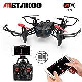(2-Batteria) Drone con Telecamera, Metakoo M5 Droni Professionali per Principianti Quadricottero FPV 2.4GHz 4CH Con Funzione Stepless-speed, Headless Mode, 3D Flips, Funzionamento Facile Sicuro per Bambini