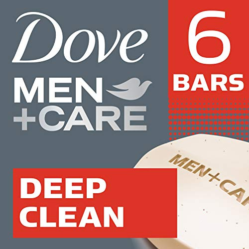 Dove Men+Care Body and Face Bar, Deep Clean 4 oz, 6 Bar by Dove -