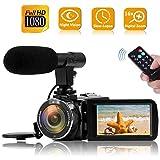 Camcorder Videokamera 1080P 30FPS 3' LCD Touch Screen Vlog Kamera IR Nachtsicht YouTube Kamera Videokamera Mit Mikrofon Digitalkamera