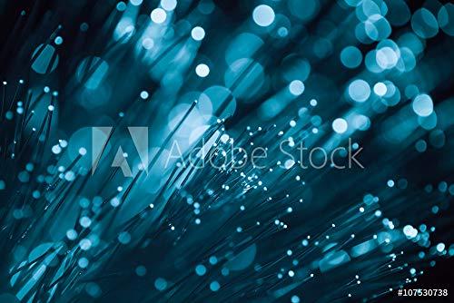 druck-shop24 Wunschmotiv: Blue Light Fiber Optic, high Speed Technology of digital telecommunication. #107530738 - Bild auf Forex-Platte - 3:2-60 x 40 cm / 40 x 60 cm
