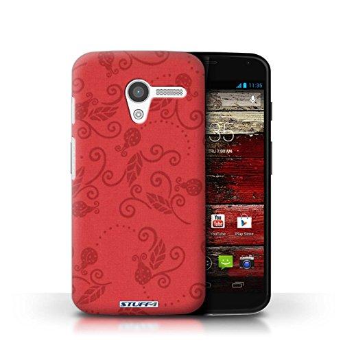 Kobalt® Imprimé Etui / Coque pour Motorola MOTO X / Gris conception / Série Motif Coccinelle Rouge