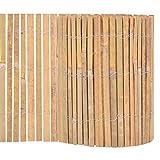 vidaXL Gartenzaun Bambus 1000x30cm Beetumrandung Beeteinfassung Rasenzaun