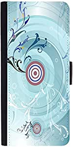 Snoogg Music Pull 2459 Graphic Snap On Hard Back Leather + Pc Flip Cover Sams...