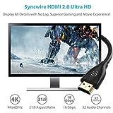 Syncwire  HDMI - Cordón HDMI 4K macho tipo A a macho tipo A Ultra HD de alta velocidad 18Gbps, 2m