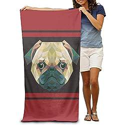 Polígono de CARLINO perro adultos Spa toalla de baño 80x 130cm