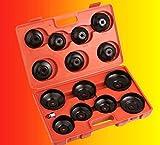 LGV Set Kit 15 Pz Chiavi a Tazza per Filtro Olio Cambio Auto Universale Chiavi Moto