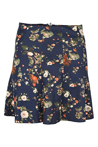 Tom Tailor Damen Rock printed skater skirt 40 cm Blau (6106) (L, Blau)