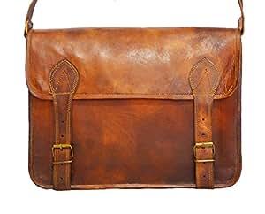 7f3d4278e5 ... Digital Rajasthan Vintage Bags Leather Messenger Satchel Bag 11X15  inches
