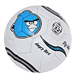 #7: Lionbuzz White Angry Birds Kids Football - Size 3, Synthetic, 1 Football and 1 Needle
