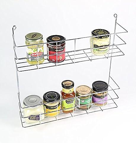 2 Tier Spice / Herb / Jar Shelf Rack Wall
