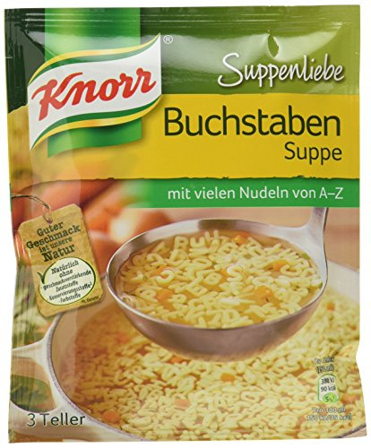 Knorr Suppenliebe Buchstaben Suppe, 14 x 3 Teller (14 x 750 ml) (Suppe)