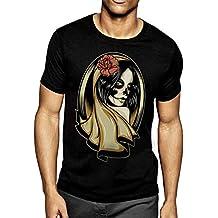 Camiseta Unisex Negra Virgin Rose