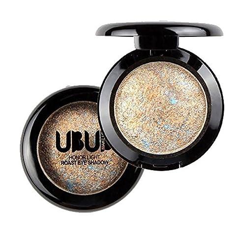 Eyeshadow Powder Single Baked Palette, Mingfa Glitter Shimmer Metallic Holographic Eye Shadow Palette Professional Cosmetic Eye (Rose