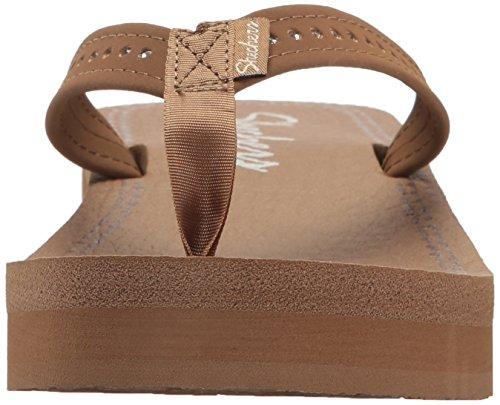 Skechers Vinyasa - Paradise Ahead Femmes Toile Tongs brown