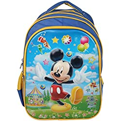 Disney School Bag For Boys 07+ Years Mickey In Fair 3D 25 (L) Blue (Dl-0012)