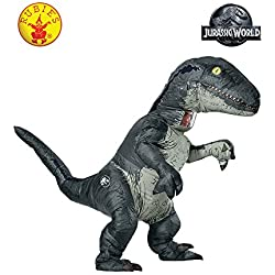 Jurassic World Inflatable Velociraptor Adult Fancy dress costume Standard