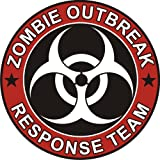 Aufkleber Zombie Outbreak Response Team Cool Vinyl Decal Bumper Sticker (Decal Kingz) 100x100 mm